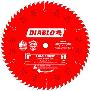 "DIABLO 10""(254mm) x 60 TOOTH MITRE SAW BLADE"