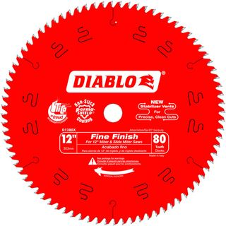 "DIABLO 12""(305mm) x 80 TOOTH MITRE SAW BLADE"