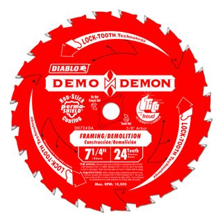 "DIABLO DEMON 7 1/4""(182mm) x 24 TOOTH CIRCULAR SAW BLADE"