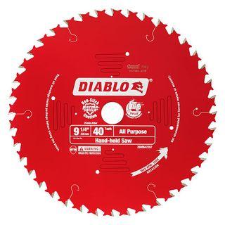"DIABLO 9 1/4"" x 40 TOOTH CIRCULAR SAW BLADE"