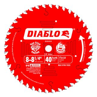 "DIABLO 8 1/4""(209mm) x 40 TOOTH CIRCULAR SAW BLADE"