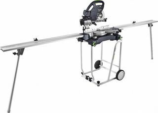 FESTOOL KS 60 SLIDE COMPOUND MITRE SAW WITH STAND & EXTENSIONS