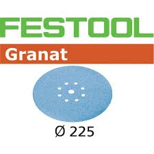 FESTOOL STF D225/8 P120 GRANAT SANDPAPER (25 INCLUDED)