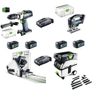 FESTOOL JOINERS CORDLESS  KIT WITH DUST EXTRACTOR