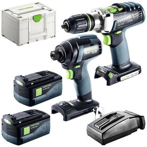 FESTOOL TID 18 & PDC 18 KIT WITH 5.2 AMP BATTERY KIT