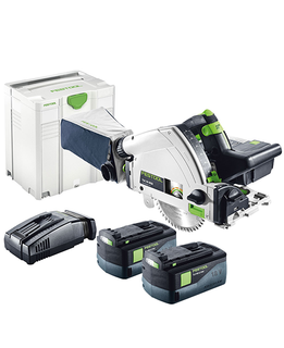 FESTOOL TSC 55 REB CORDLESS PLUNGE SAW (INCLUDES 2 BATTERIES & 1 CHARGER)