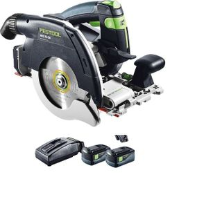 FESTOOL SAW HKC 55 CORDLESS KIT (INCLUDES 2 BATTERIES & 1 CHARGER)