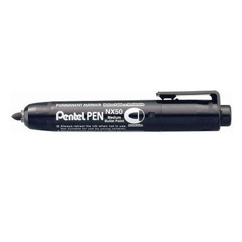 PENTEL NX50-A CLICK MARKER BLACK PLASTIC