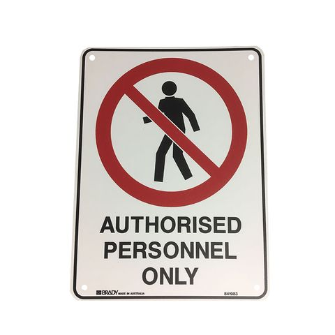 AUTHORISED PERSONNEL ONLY SIGN 300X225P