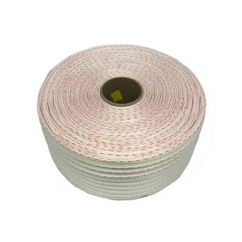 POLYWOVEN STRAP 19MMX500M 2 RED LINES