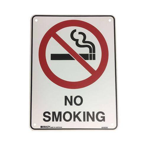 NO SMOKING SIGN 300X225MM POLY