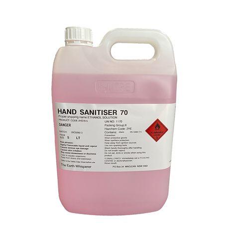 HAND SANITISER 70% ALCOHOL 5L