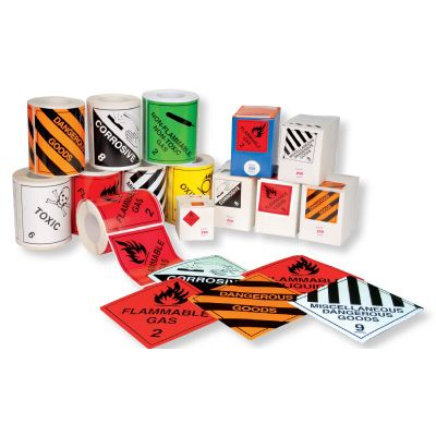 DANGEROUS GOODS LABELS 50x50mm