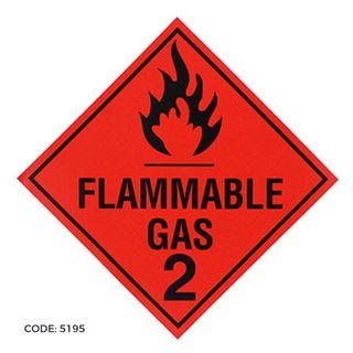 DG Label 300x300 Flammable Gas 2