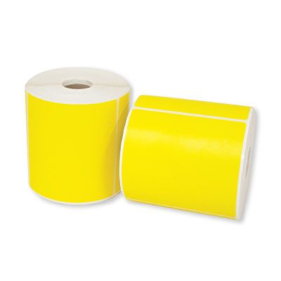 DESKTOP THERMAL LABELS-YELLOW
