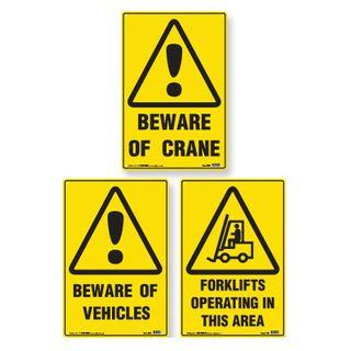 Sign - Beware of Vehicles  600 x 450mm