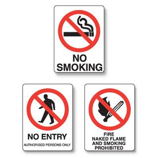 Sign - No Entry 450 x 300mm