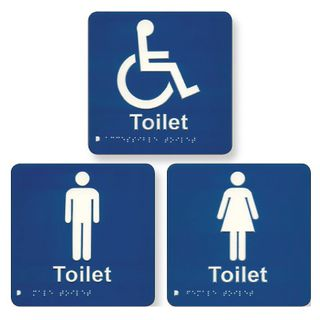 Braille Signs - Female 180 x 180mm
