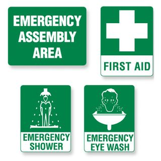 Sign - Emergency Shower  300 x 450mm