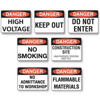 Danger Sign - Keep Out  600 x 450mm