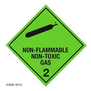 DG Label 300x300 NonFlam/NonTox Gas2.2