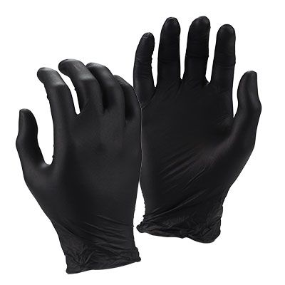 HD NITRILE (BLACK) GLOVES