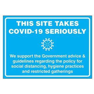 COVID19 SITE TAKES C19 SRSLY Sticker 151x211