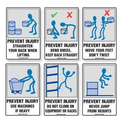 PREVENT INJURY SIGNS