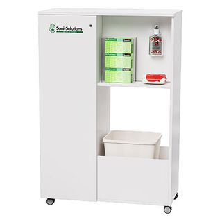 Mobile Doublesided Sani-Station 1350x900x400mm White
