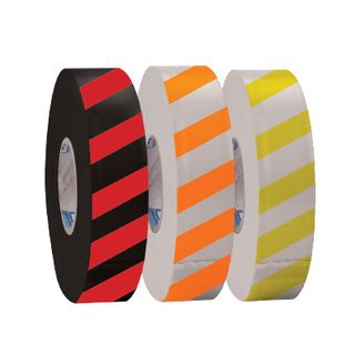 Flagging tape 25mm x 75m White/Orange Stripe