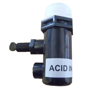 ACID ONLY INLET BODY (BLACK)