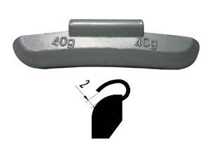 Weights - Steel rim clip on