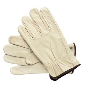 gloves, leather heavy duty all sizes