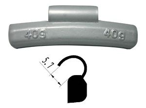 FN Style clip on wheel weights from: