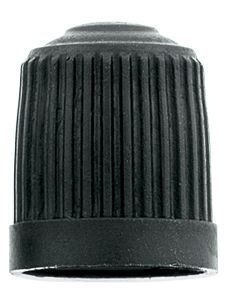 valve cap - black plastic (100)