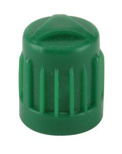 valve cap - green plastic (100)