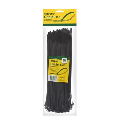 Cable ties black (100) 300 x 4mm