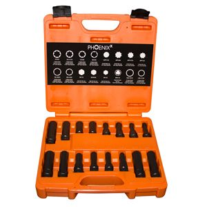 lock nut remover set, 16pc,  myers