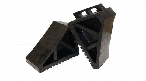 wheel chock - black rubber HD  Esko (single)