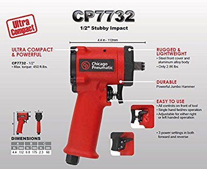 CP7732 1/2in stubby impact gun
