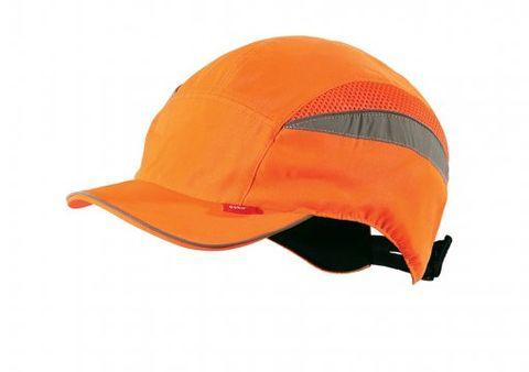 safety bump cap long peak - Hi Viz Orange