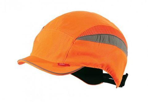 safety bump cap short peak - Hi Viz Orange