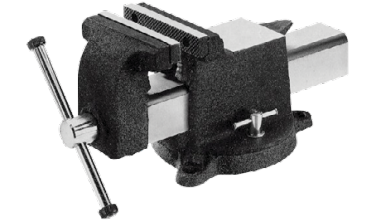 "5"" bench vise, swivel base - AOK"