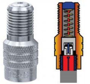 valve cap - double seal inflate thru sold singly (100)