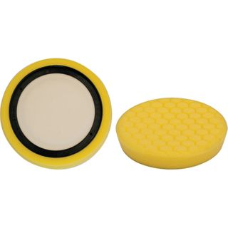 YELLOW MEDIUM CUT FOAM PAD HEX CUT