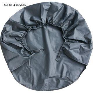 WHEEL COVERS BLACK 30-32 INCH (SET 4)