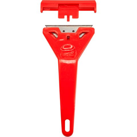RED PLASTIC SCRAPER 4""
