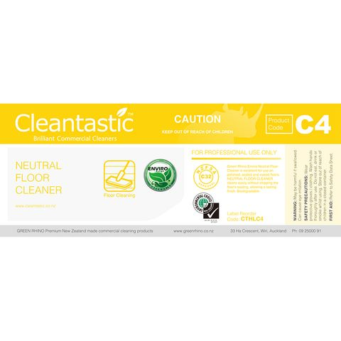 CLEANTASTIC™ C4 HALF LABEL NEUTRAL FLOOR CLEANER