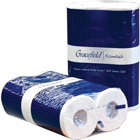 GRACEFIELD TOILET TISSUE 2PLY 400SHEETS (36ROLL)