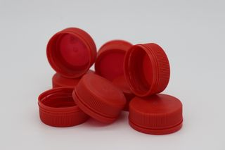 PET LID RED  FIT 300 & 500 CLEAR BOTTLE